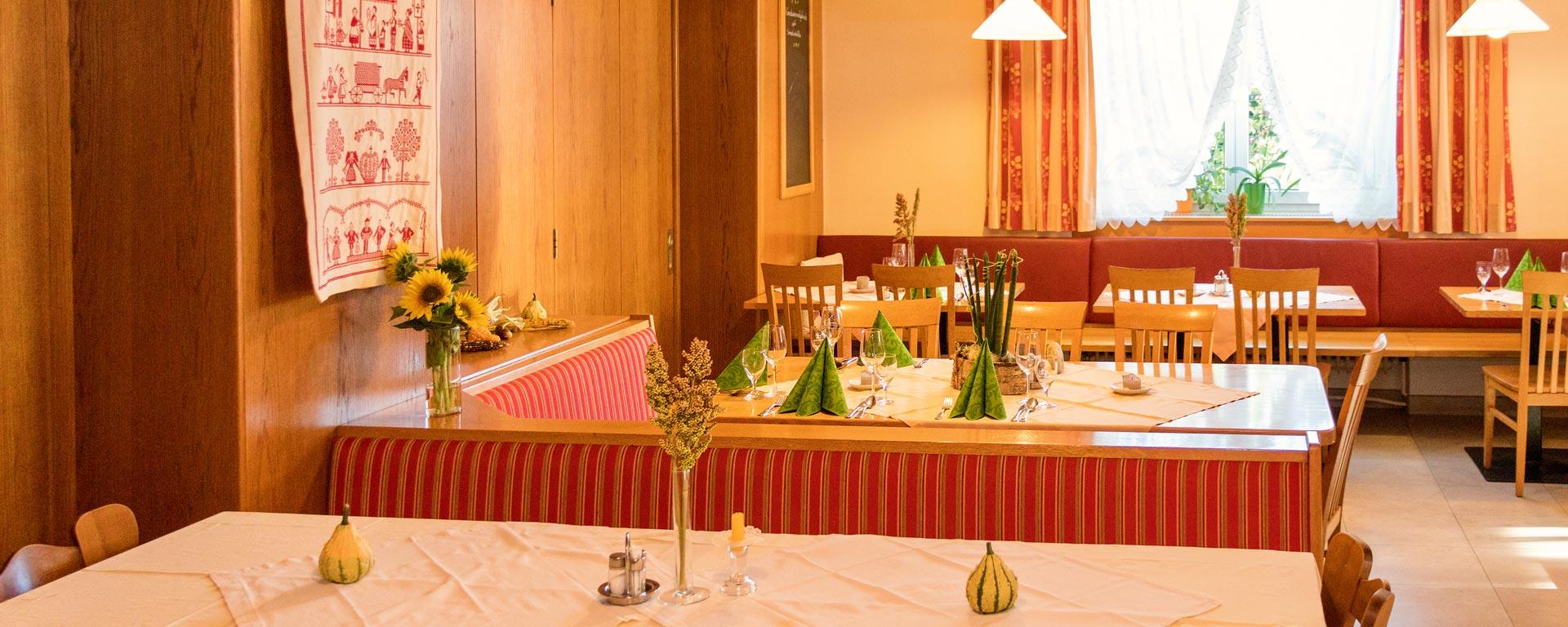 Innenansicht vom Gasthaus Weninger in Paldau